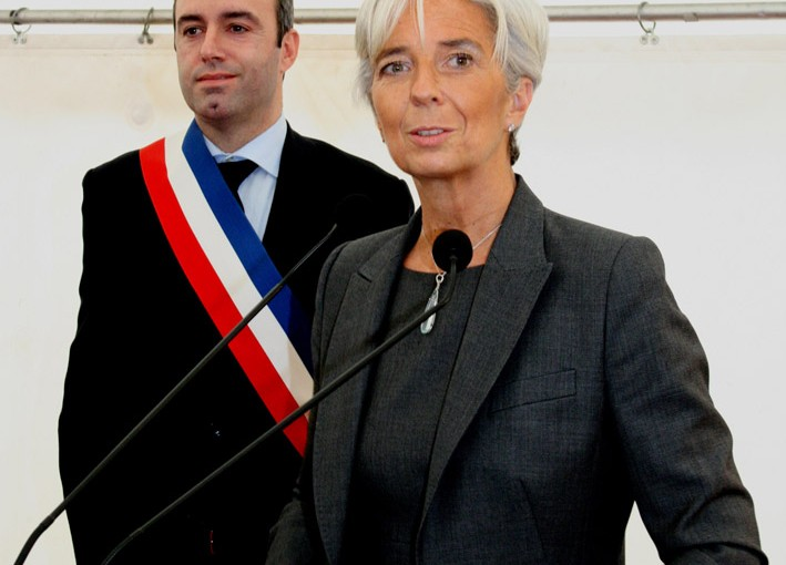Visit of Christine Lagarde.